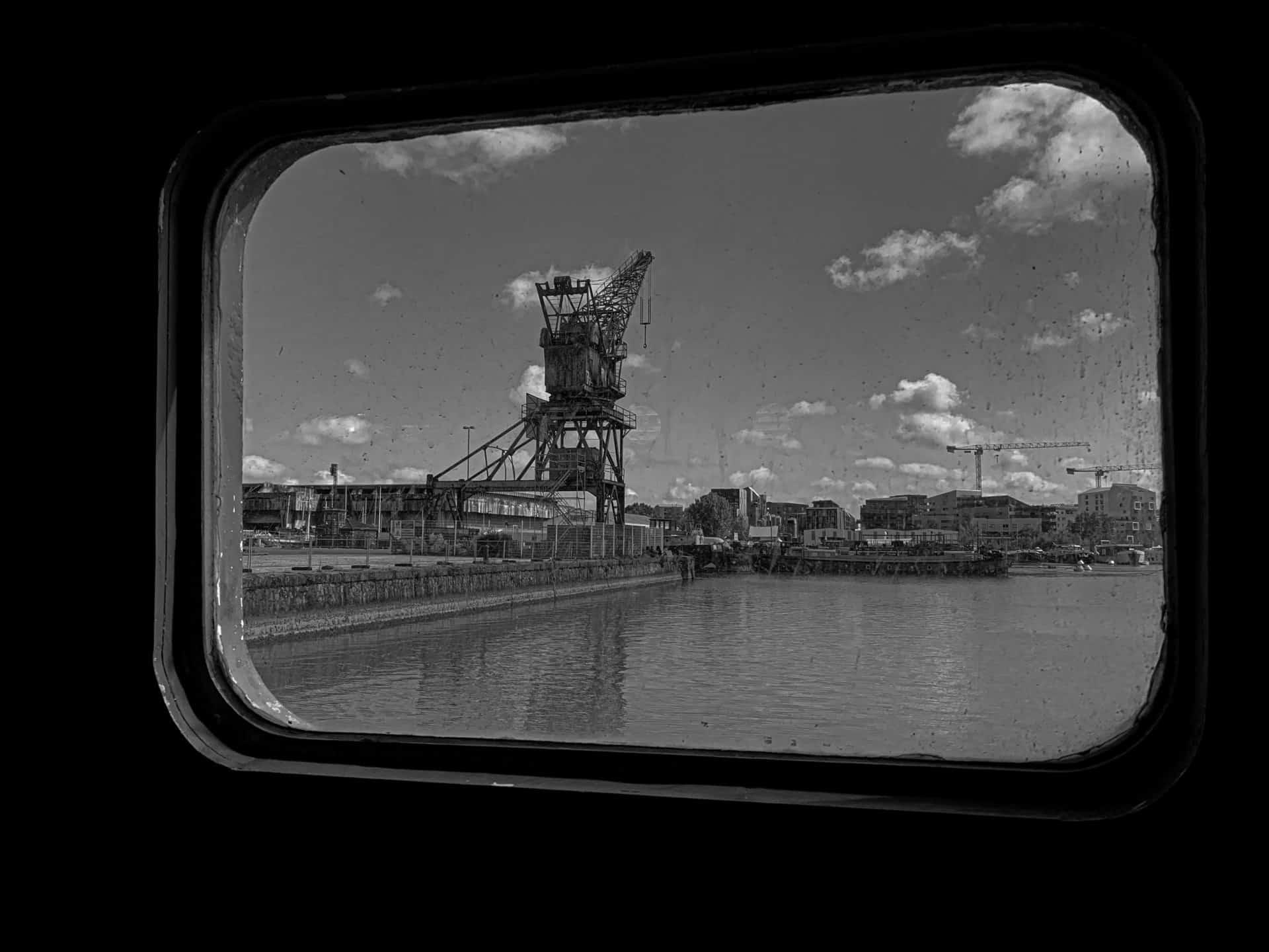 La Grue Wellman vue de l'I.Boat