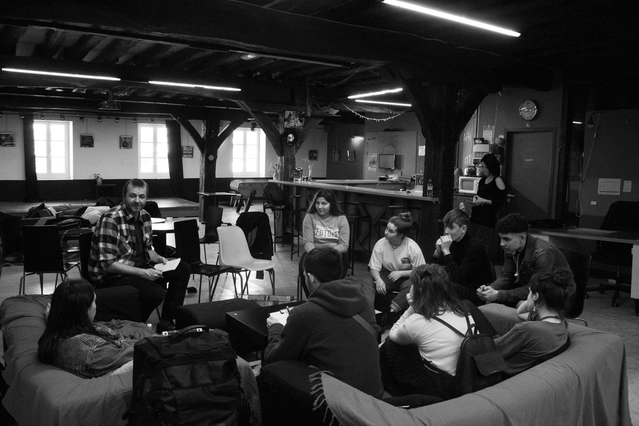 Nicolas Kieffer et les jeunes au Café Music